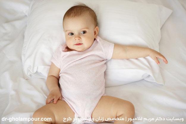 تصویر کودکی که به روش سزارین به دنیا آمده